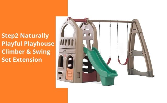 Step2-Naturally-playful-Playhouse-Climber-&-Swing-Set-Extension