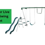 Sportspower-Live-Oak-Metal-Swing-Set-And-Slide-Set