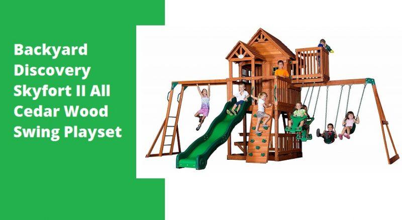 Backyard Discovery Skyfort II All Cedar Wood Swing Playset Review