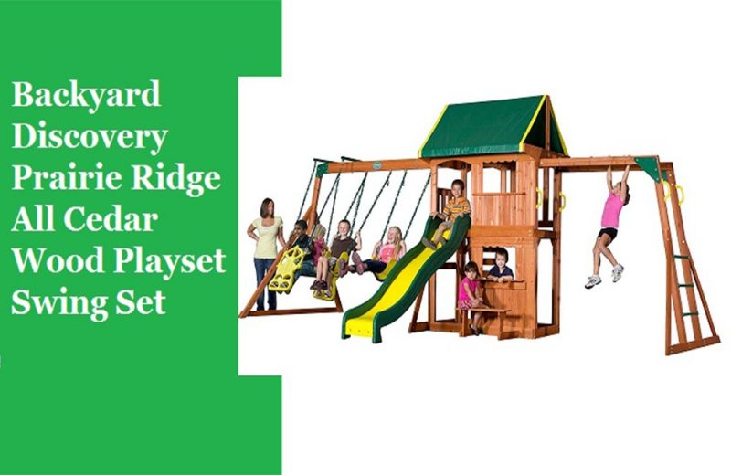 Backyard-Discovery-Prairie-Ridge-All-Cedar-Wood-Playset-Swing-Set