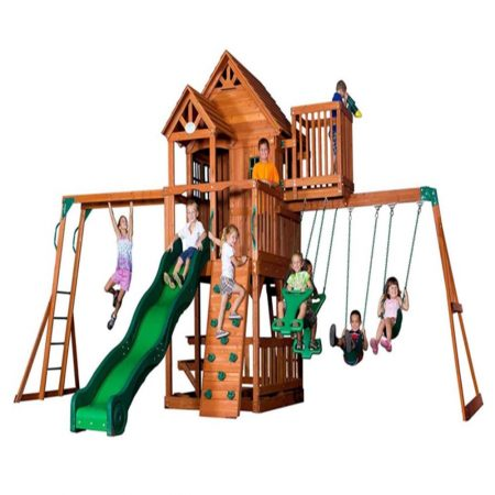 Backyard-Discovery-Skyfort-II-All-Cedar-Wood-Swing-Playset