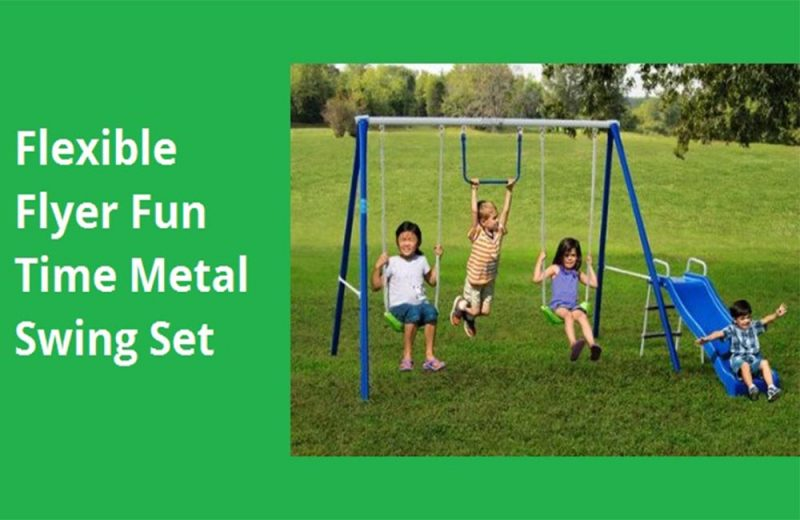 Flexible-Flyer-Fun-Time-Metal-Swing-Set