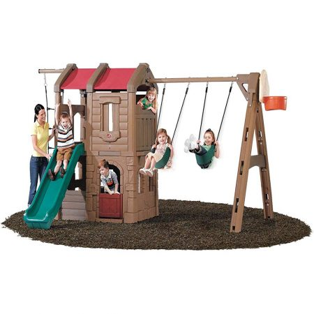 Step2-Naturally-Playful-Adventure-Lodge-Swing-Set-and-Play-Center