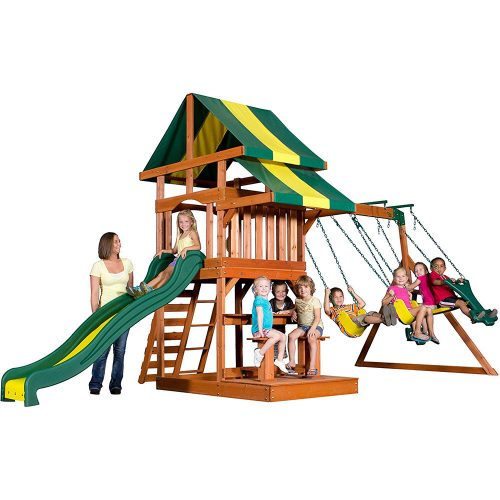 Backyard Discovery Independence All Cedar Wood Playset Swing Set