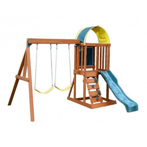 Big Backyard KidKraft Andorra Cedar Wood Swing Set