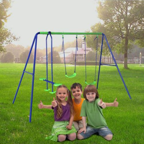 HLC Outdoor Childrens Folding Swing Set