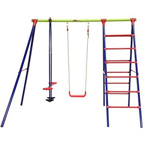 Outward Play Burke Steel A-Frame Swing Set with Teeter-Toter
